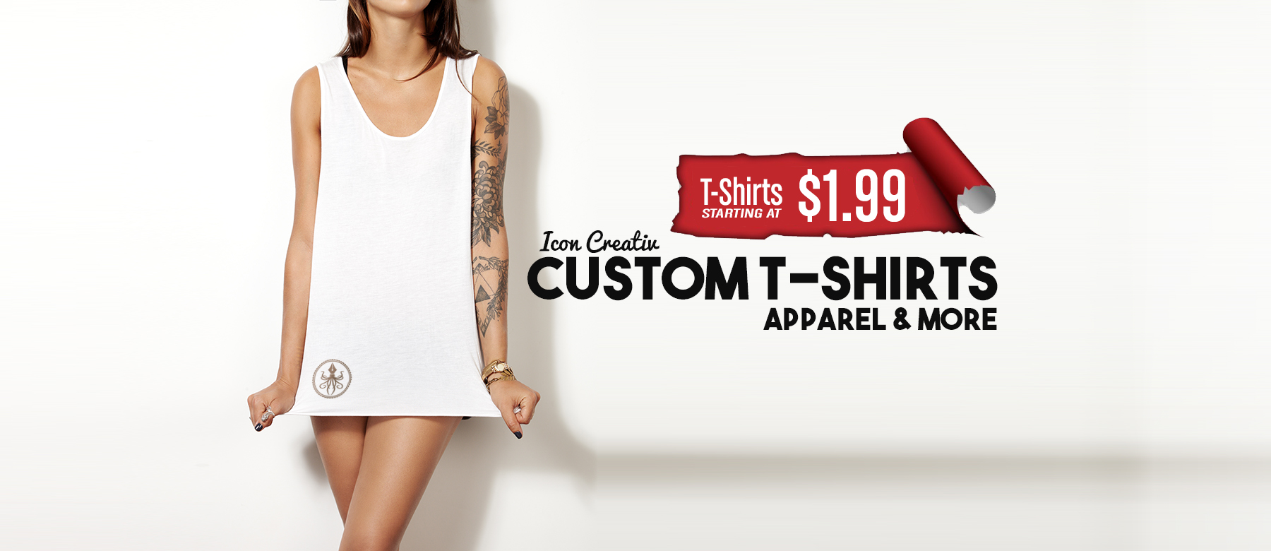 Custom t shirt printing icon creativ custom t shirts for Custom fashion t shirts