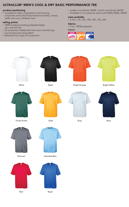 84eb3740 Top 3 best 100% polyester promo t-shirts | Group T-Shirts, Event T ...