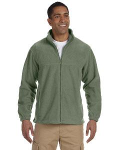 Harriton full zip fleece m990 - dill