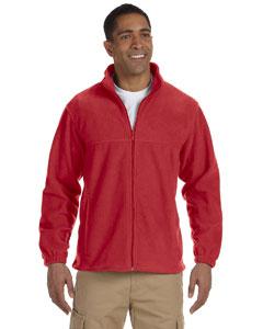 Harriton full zip fleece m990 - red