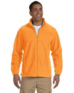 Harriton full zip fleece m990 - safety orange