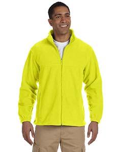 Harriton full zip fleece m990 - safety yellow