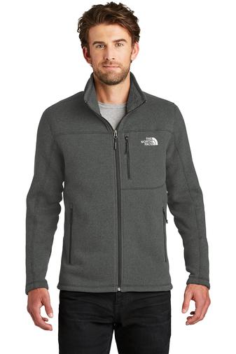 The North Face full zip fleece - black heather