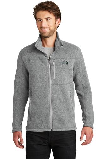 The North Face full zip fleece - medium grey heather