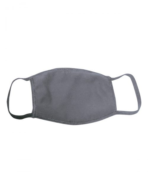 Logo Printed Face Mask Double Layer Grey