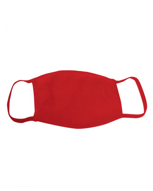 Logo Printed Face Mask Double Layer Red
