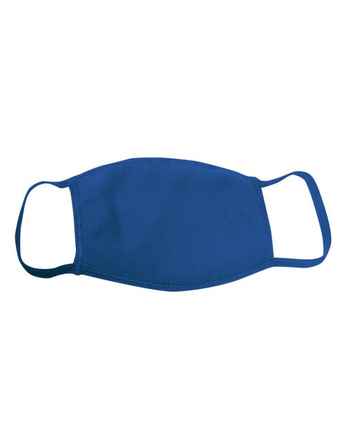 Logo Printed Face Mask Double Layer Royal Blue